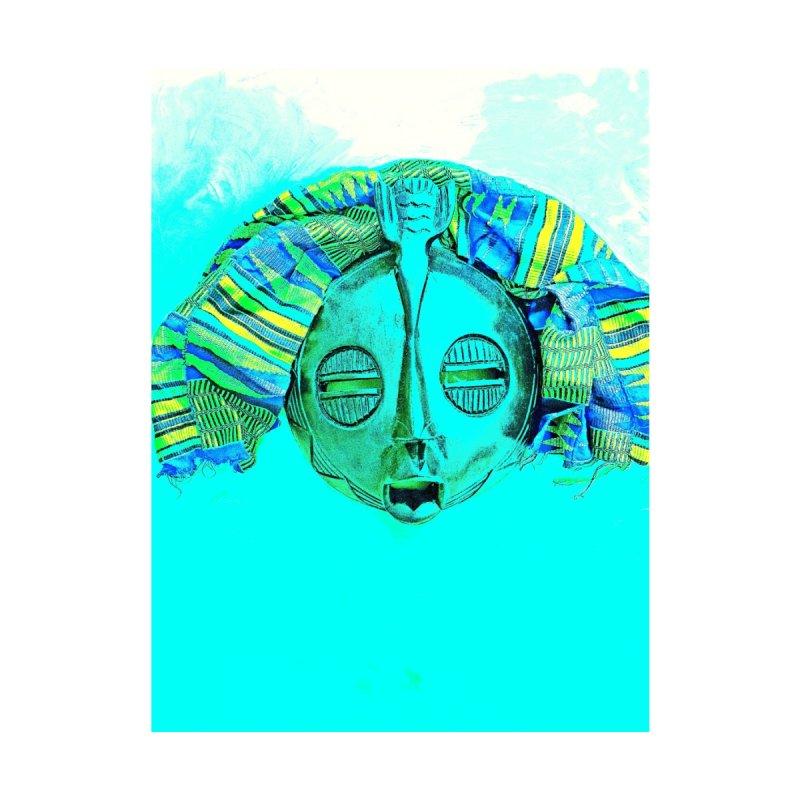 Blue Face Mask Home Fine Art Print by Symbols of Communicatios