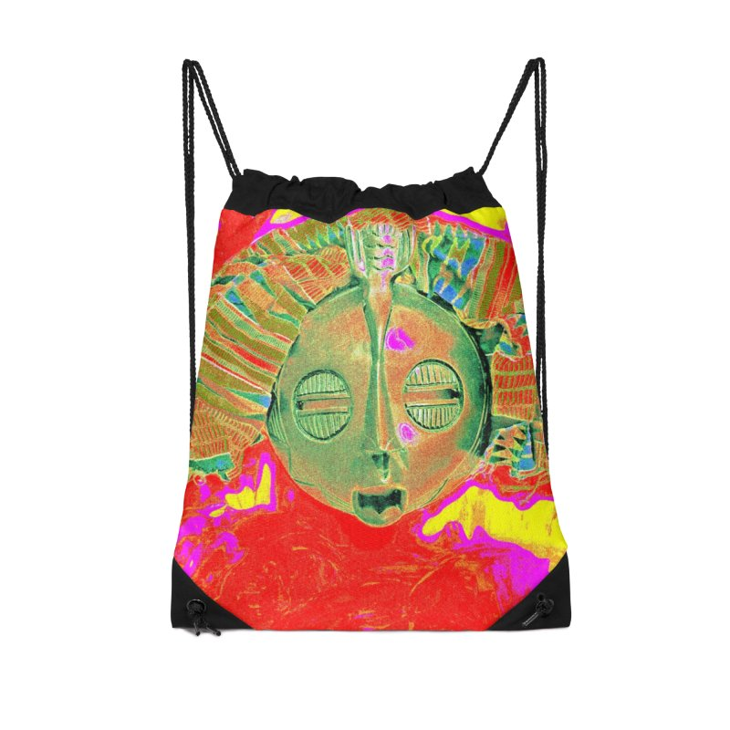 African Lady Mask Accessories Bag by Symbols of Communicatios
