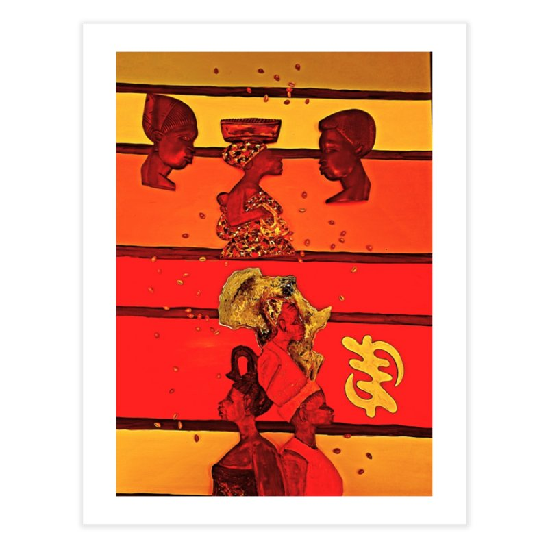 Chief Amu's symbolsofCommunications  have an appealing but also represent concepts and values that Home Fine Art Print by Symbols of Communicatios