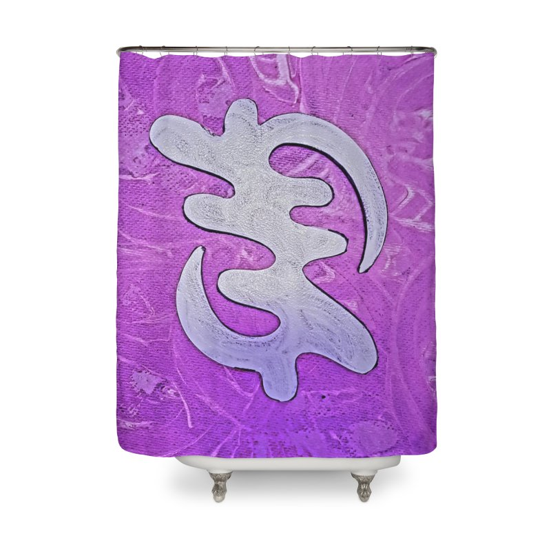 By his Grace Home Shower Curtain by Symbols of Communicatios