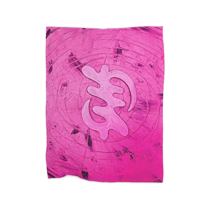 The King of Love Home Blanket by Symbols of Communicatios