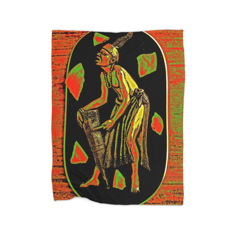 The Drummer Home Blanket by Symbols of Communicatios