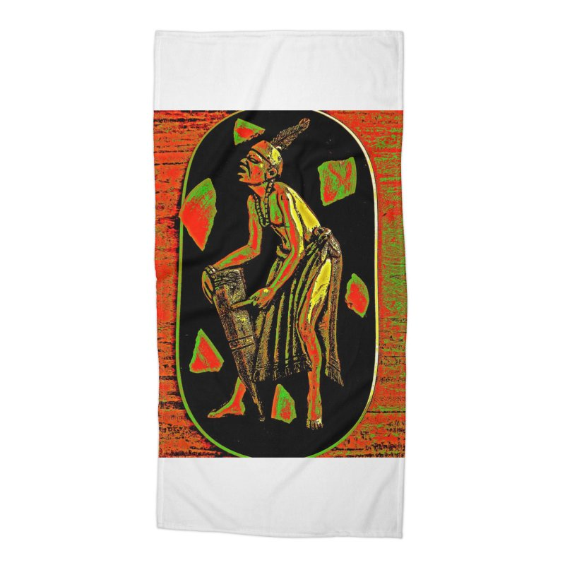 The Drummer Accessories Beach Towel by Symbols of Communicatios