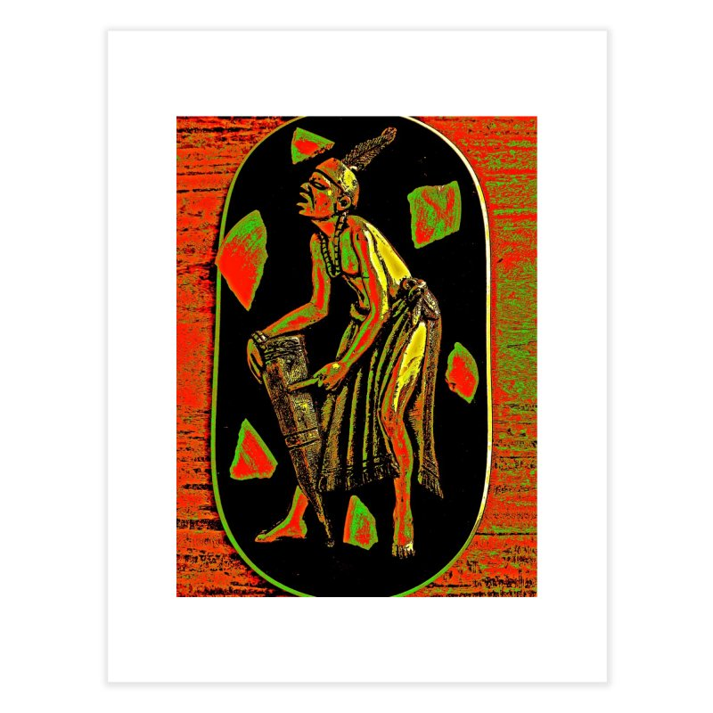 The Drummer Home Fine Art Print by Symbols of Communicatios