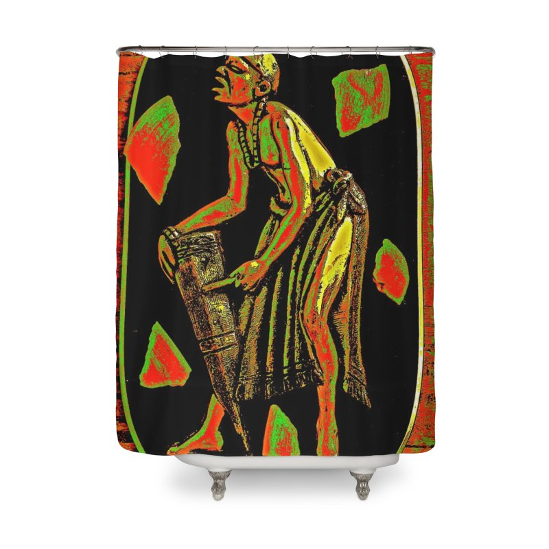 The Drummer Home Shower Curtain by Symbols of Communicatios