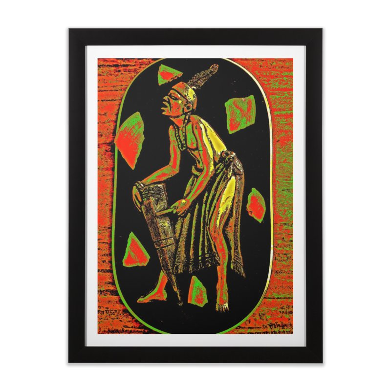 The Drummer Home Framed Fine Art Print by Symbols of Communicatios