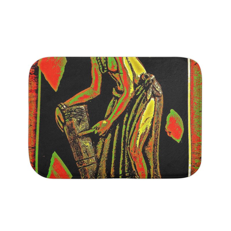 The Drummer Home Bath Mat by Symbols of Communicatios