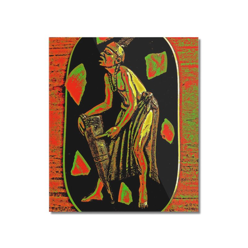 The Drummer Home Mounted Acrylic Print by Symbols of Communicatios