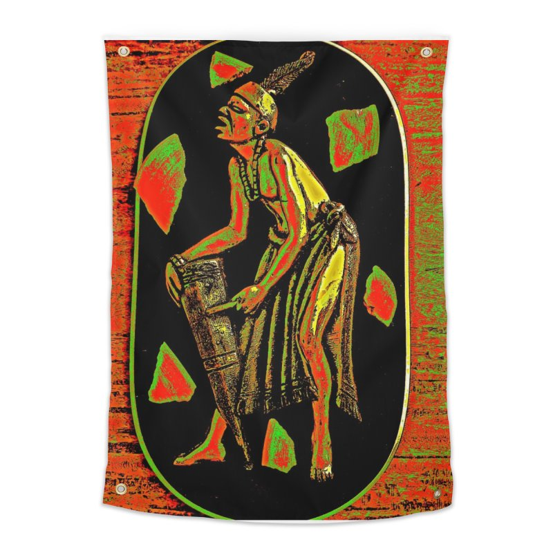 The Drummer Home Tapestry by Symbols of Communicatios