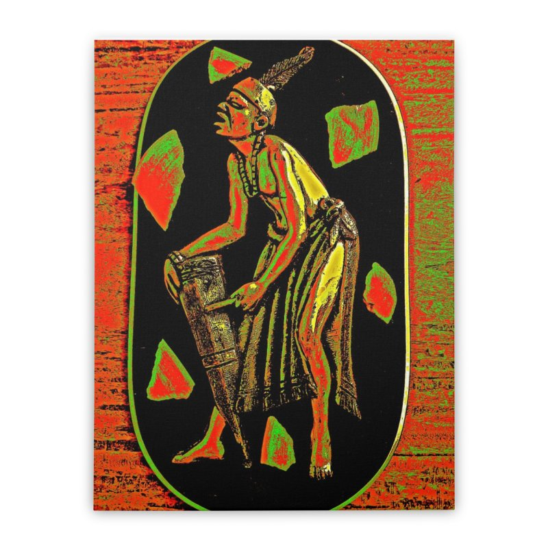The Drummer Home Stretched Canvas by Symbols of Communicatios