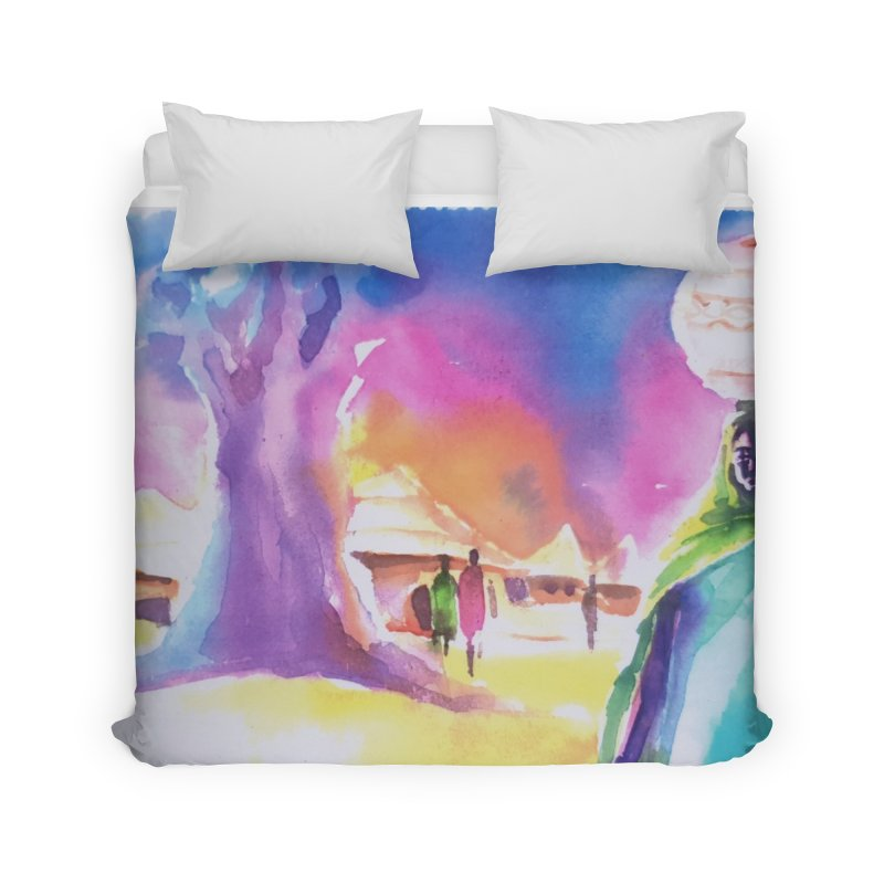 Water water Home Duvet by Symbols of Communicatios