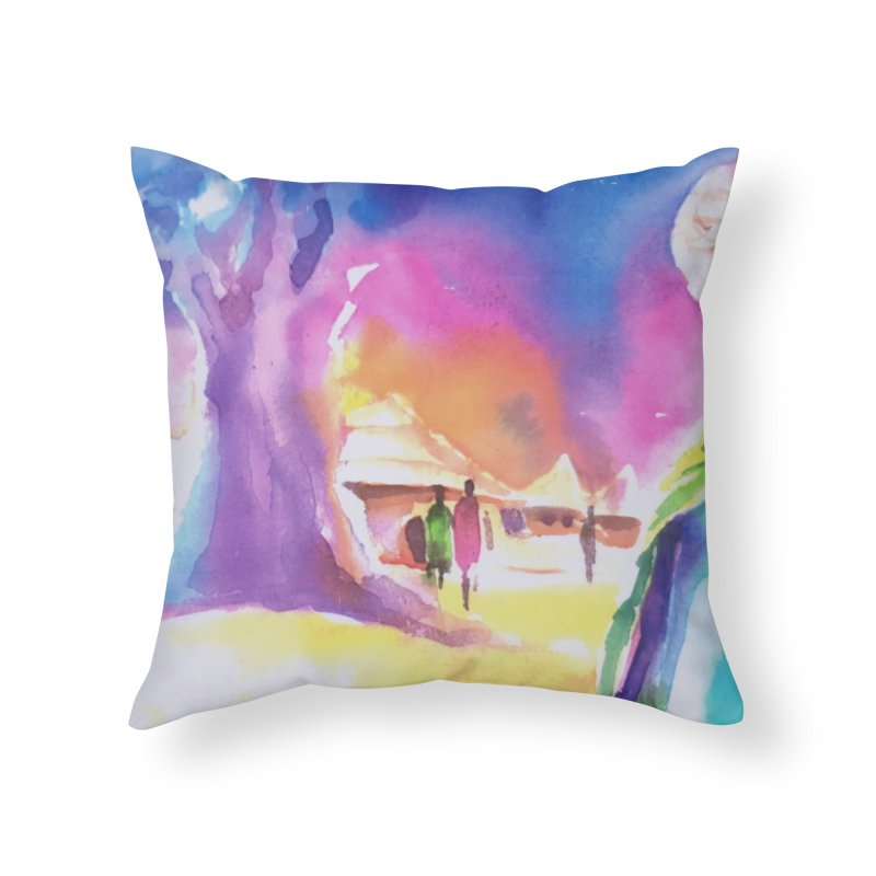 Water water Home Throw Pillow by Symbols of Communicatios
