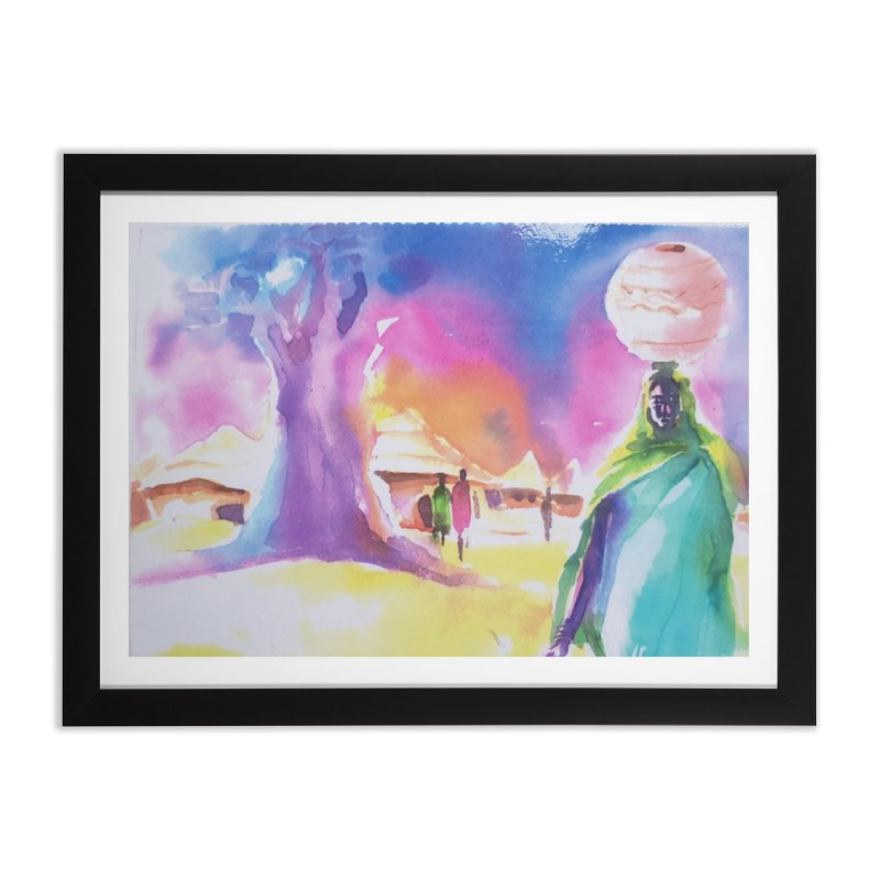 Water water Home Framed Fine Art Print by Symbols of Communicatios