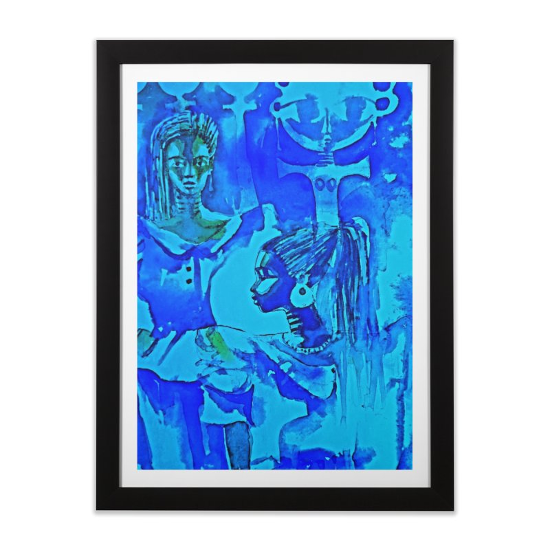 African Sisters Home Framed Fine Art Print by Symbols of Communicatios