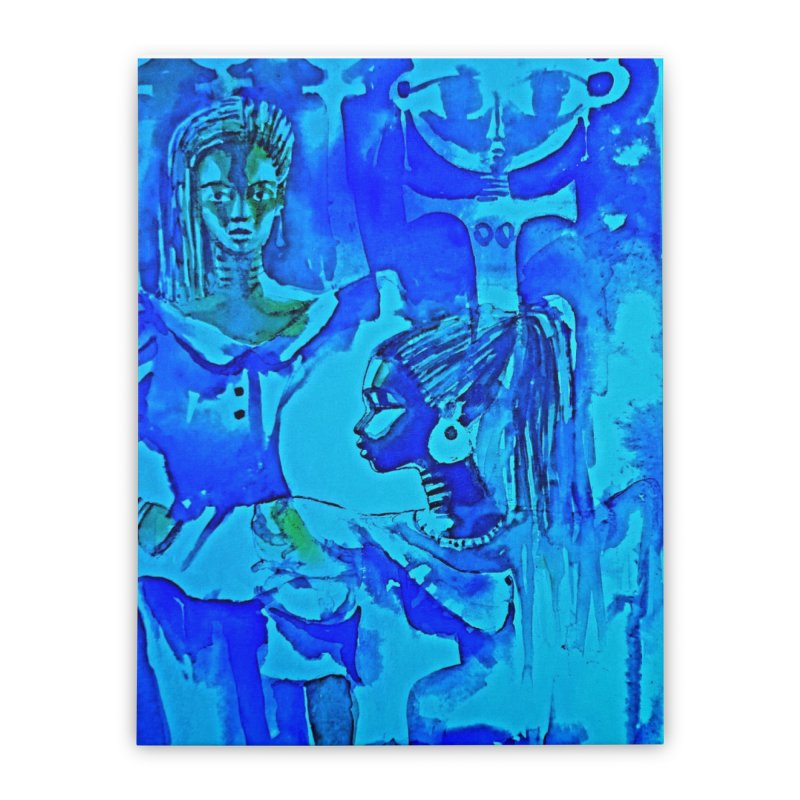 African Sisters Home Stretched Canvas by Symbols of Communicatios