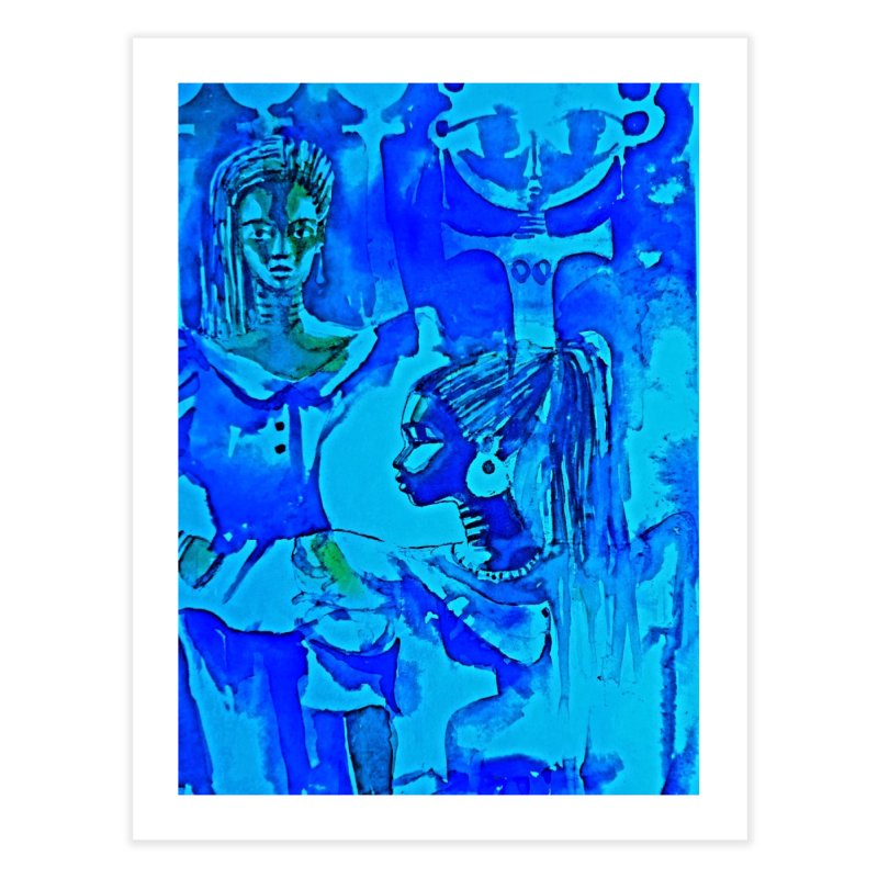 African Sisters Home Fine Art Print by Symbols of Communicatios