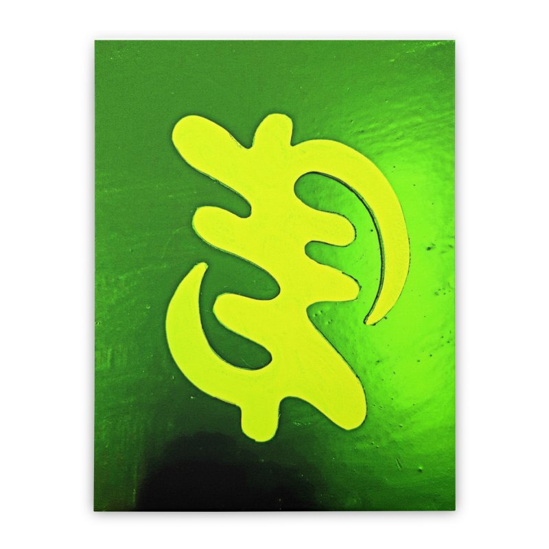 I see the lightq Home Stretched Canvas by Symbols of Communicatios