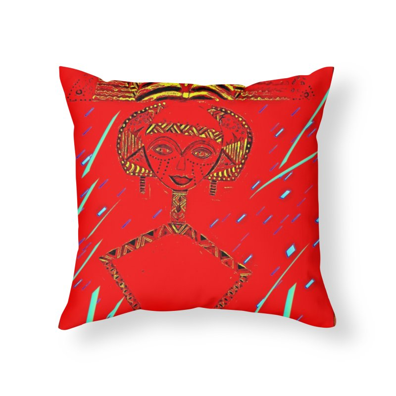Bskota doll Home Throw Pillow by Symbols of Communicatios