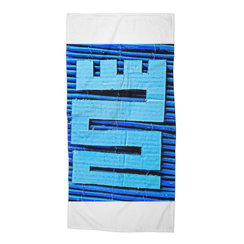 Blue Blue Accessories Beach Towel by Symbols of Communicatios