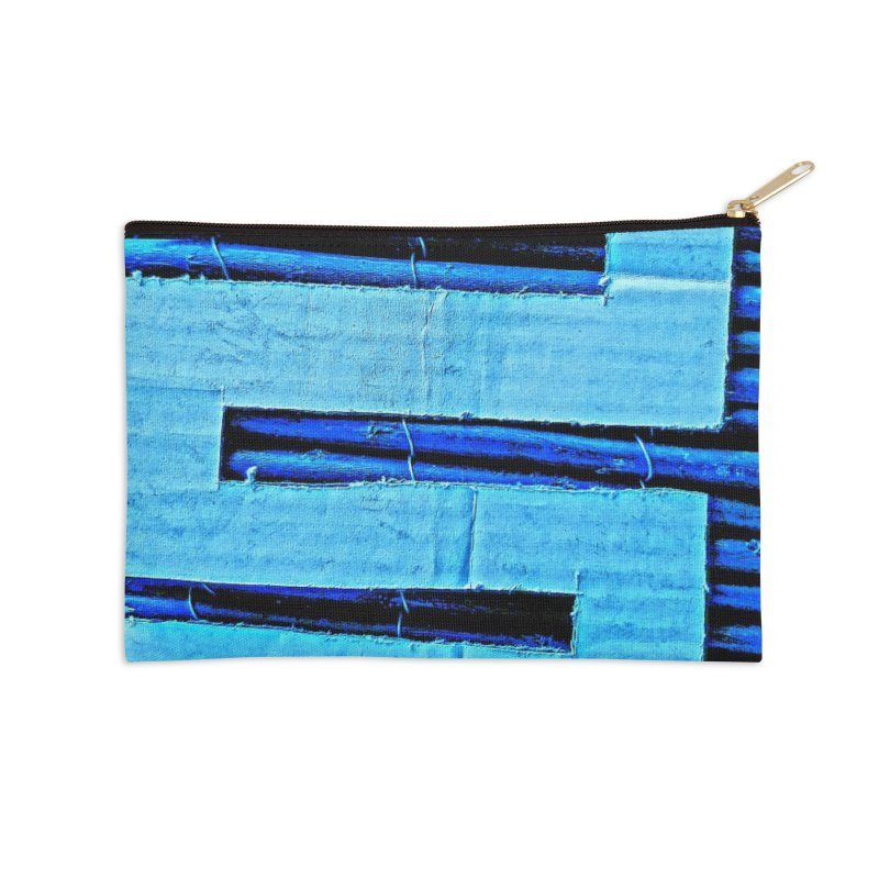 Blue Blue Accessories Zip Pouch by Symbols of Communicatios