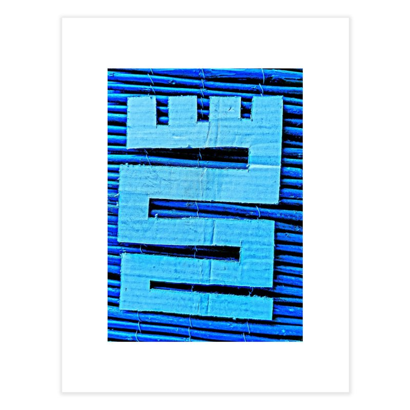 Blue Blue Home Fine Art Print by Symbols of Communicatios