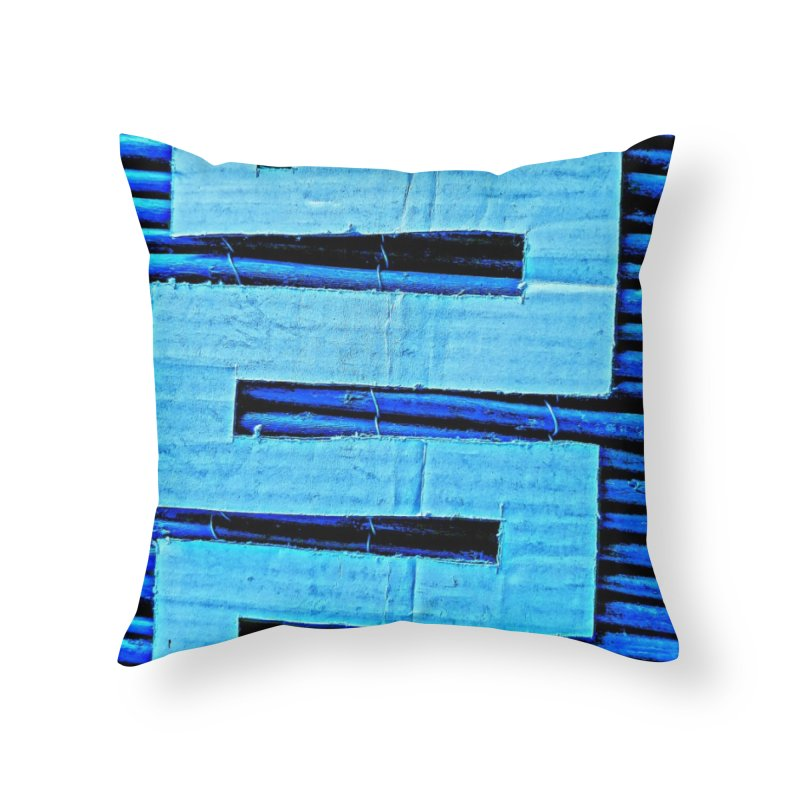 Blue Blue Home Throw Pillow by Symbols of Communicatios