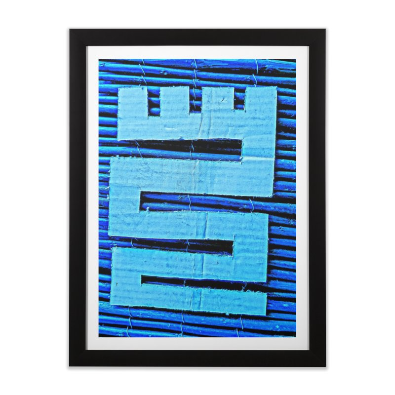 Blue Blue Home Framed Fine Art Print by Symbols of Communicatios