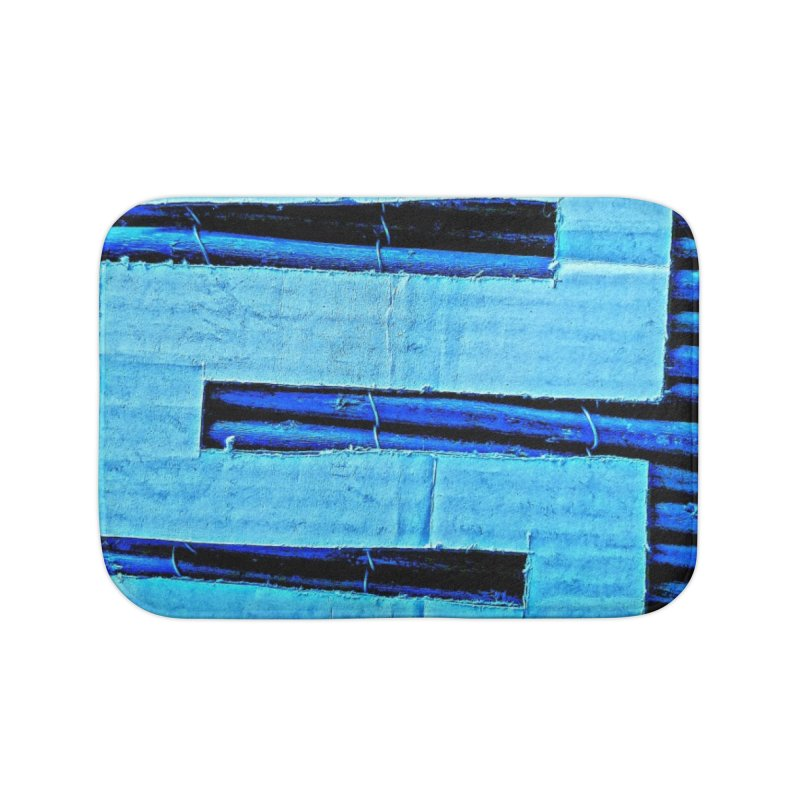 Blue Blue Home Bath Mat by Symbols of Communicatios