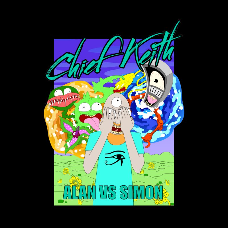 alan vs. simon Men's T-Shirt by Chief Keith Music's Artist Shop