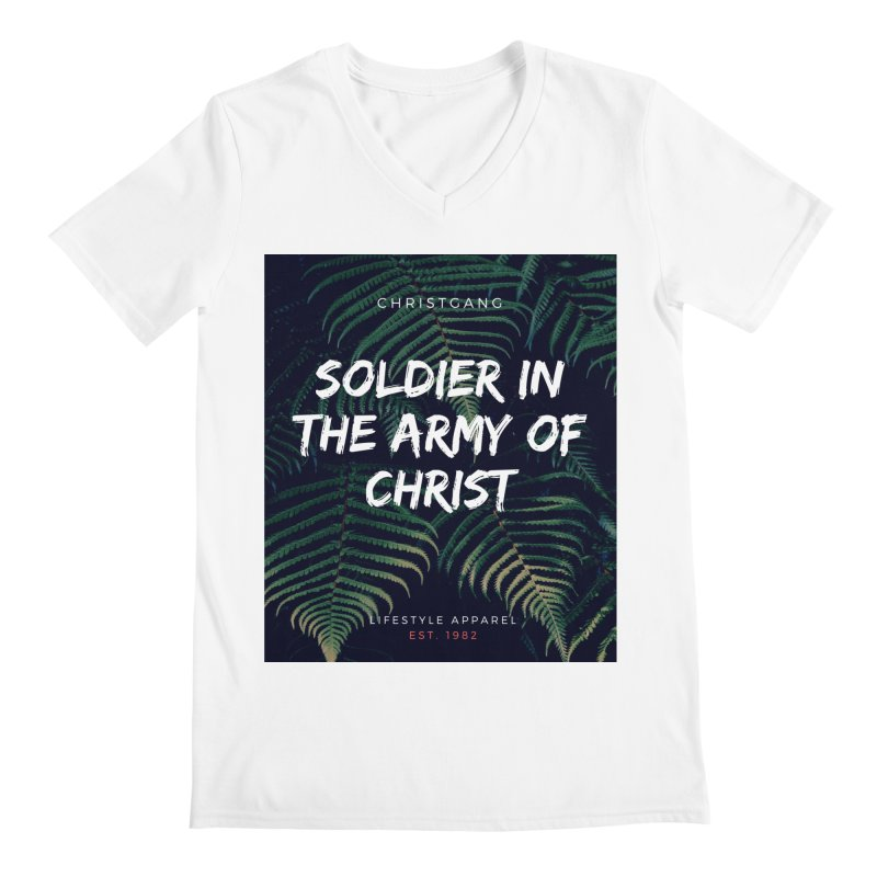 Soldier In The Army Of Christ Men's V-Neck by ChristGang Apparel
