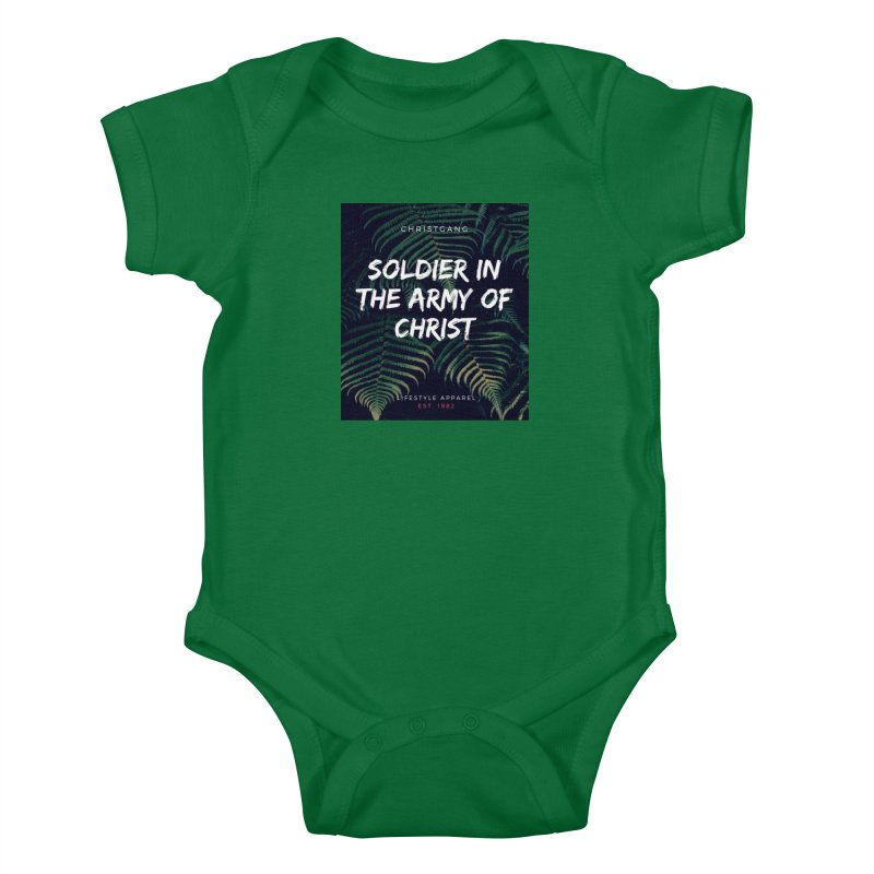 Soldier In The Army Of Christ Kids Baby Bodysuit by ChristGang Apparel