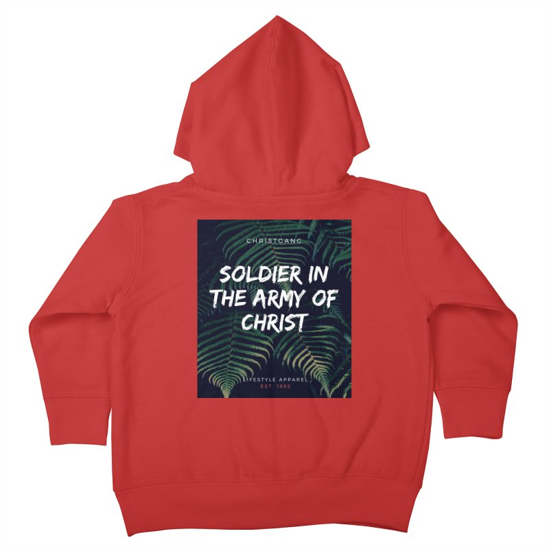 Soldier In The Army Of Christ Kids Toddler Zip-Up Hoody by ChristGang Apparel