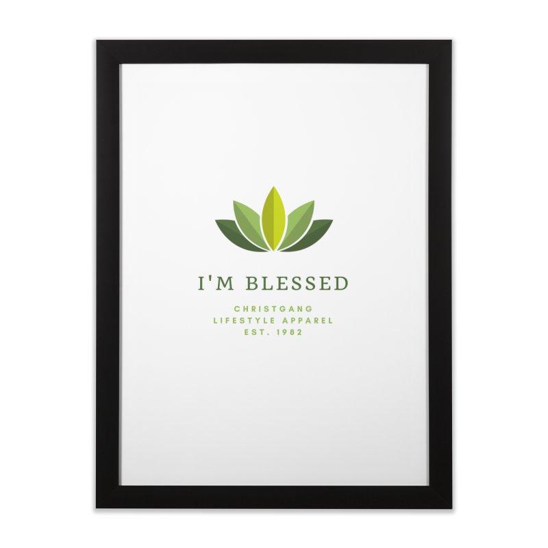 Blessed Home Framed Fine Art Print by ChristGang Apparel