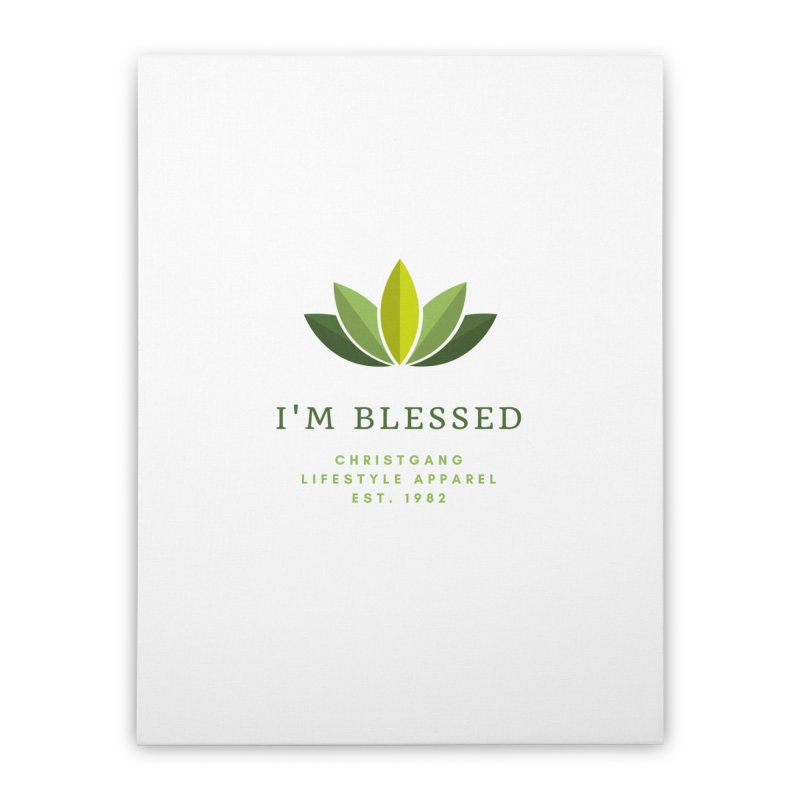 Blessed Home Stretched Canvas by ChristGang Apparel