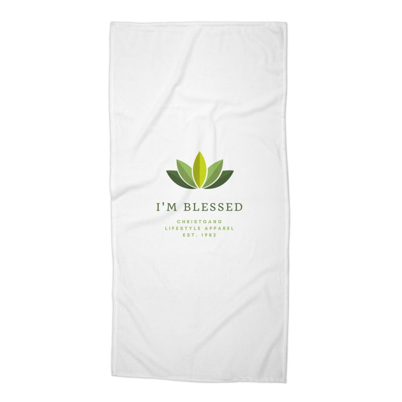Blessed Accessories Beach Towel by ChristGang Apparel