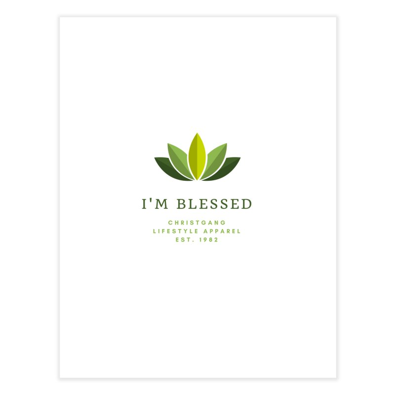 Blessed Home Fine Art Print by ChristGang Apparel
