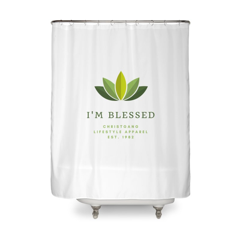 Blessed Home Shower Curtain by ChristGang Apparel