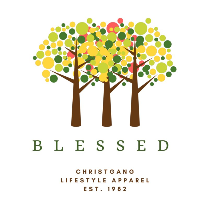 Blessed Home Throw Pillow by ChristGang Apparel
