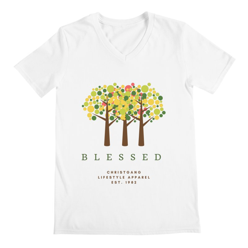Blessed Men's V-Neck by ChristGang Apparel