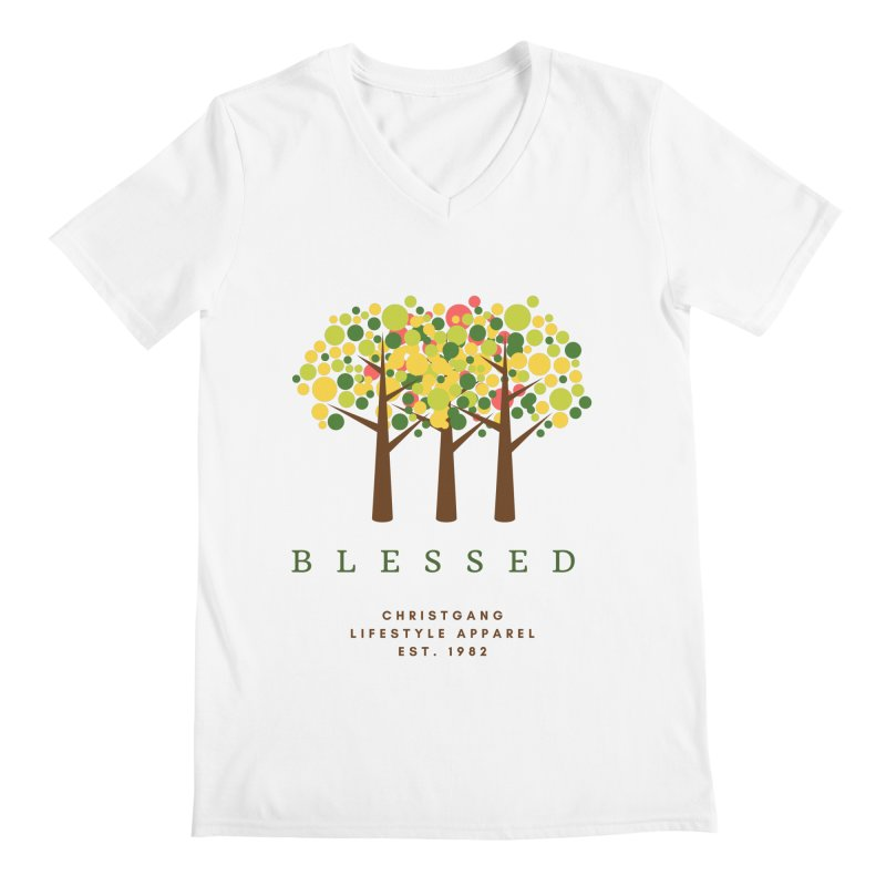 Blessed Men's V-Neck by ChristGang Apparel