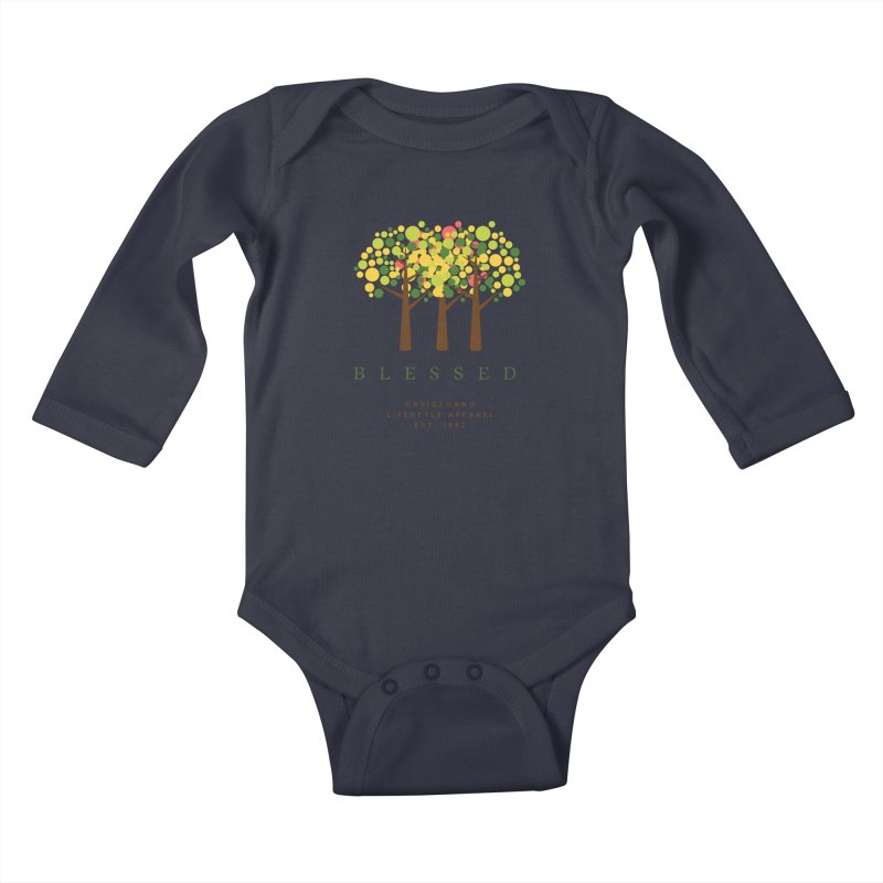 Blessed Kids Baby Longsleeve Bodysuit by ChristGang Apparel