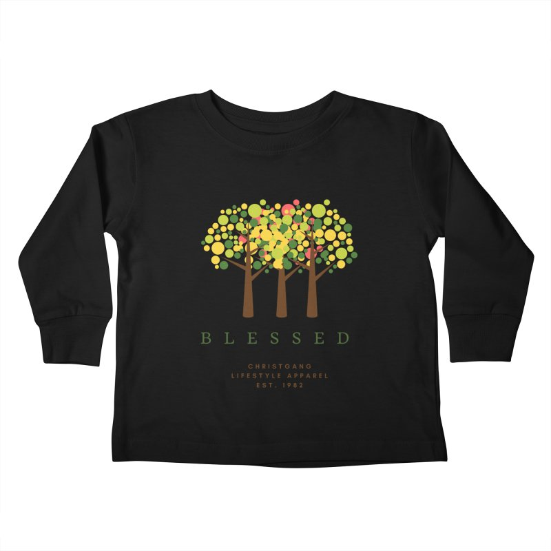 Blessed Kids Toddler Longsleeve T-Shirt by ChristGang Apparel