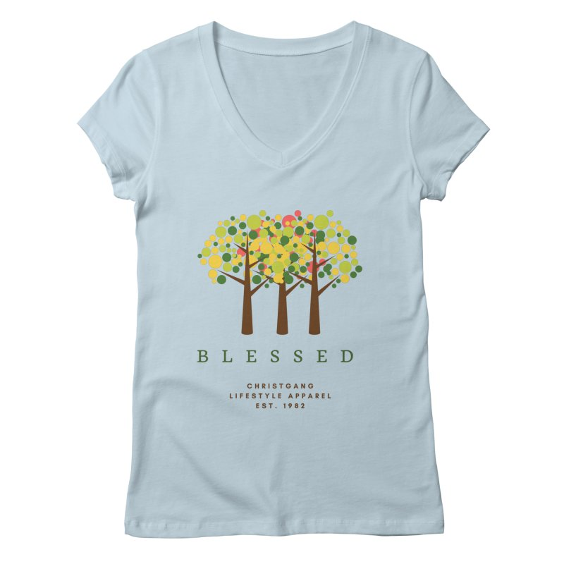 Blessed Women's V-Neck by ChristGang Apparel