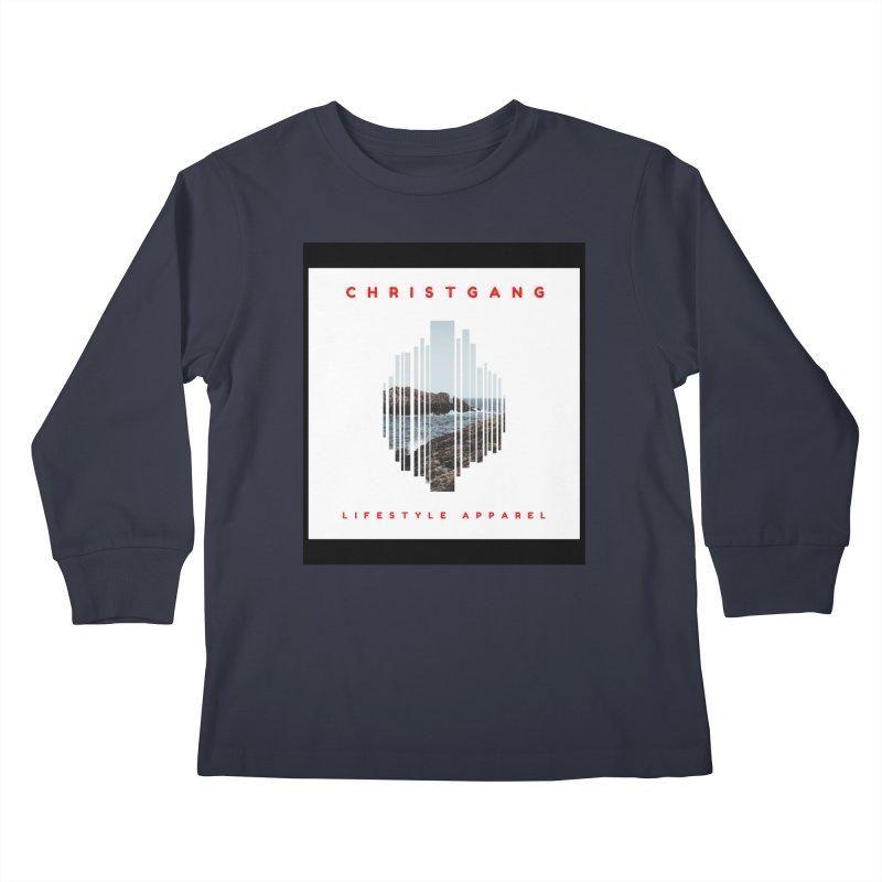 ChristGang - Ocean Views Kids Longsleeve T-Shirt by ChristGang Apparel