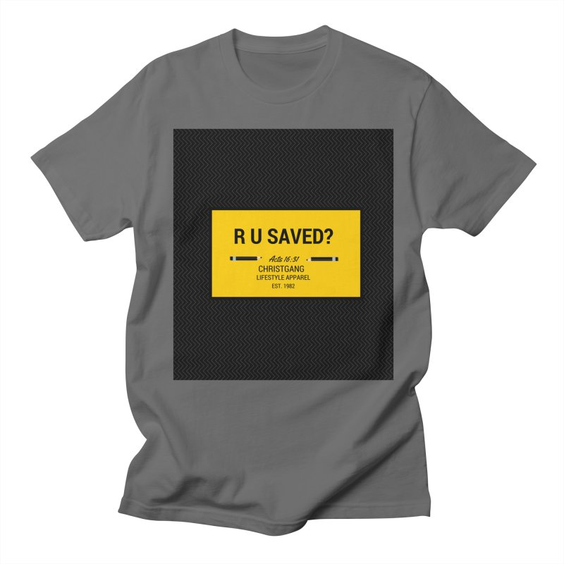 R U Saved? Men's T-Shirt by ChristGang Apparel