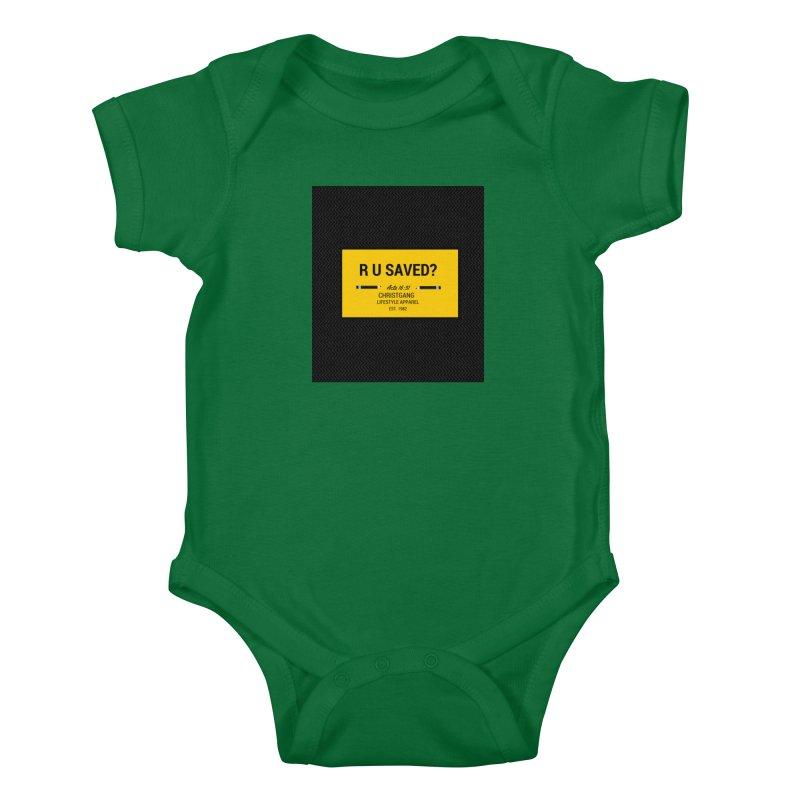 R U Saved? Kids Baby Bodysuit by ChristGang Apparel