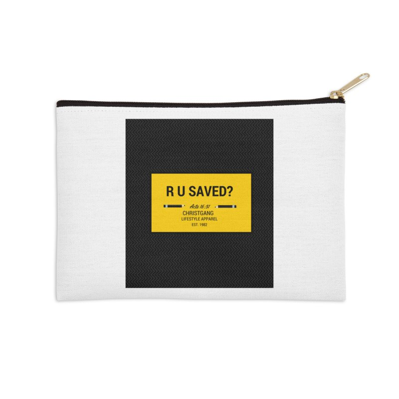 R U Saved? Accessories Zip Pouch by ChristGang Apparel