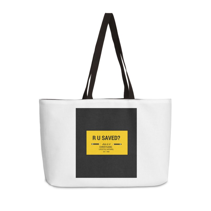 R U Saved? Accessories Bag by ChristGang Apparel
