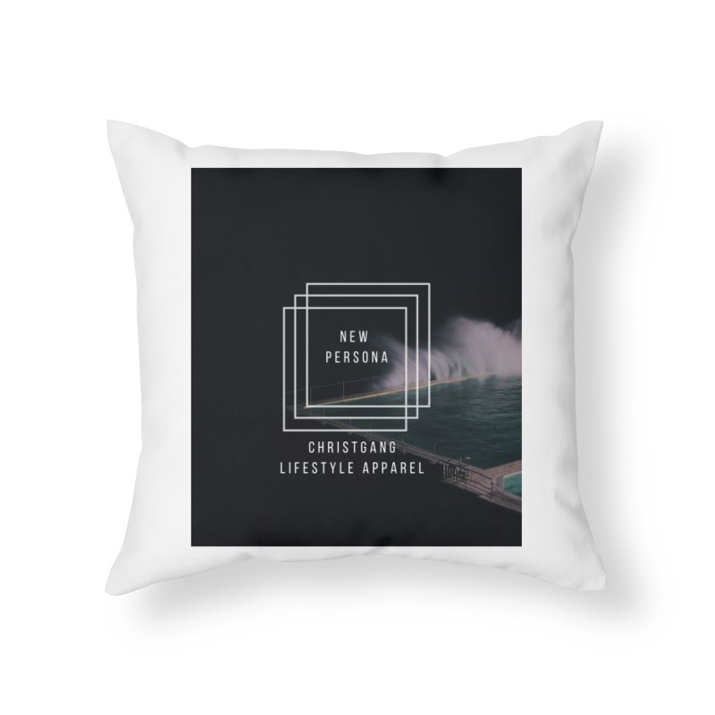 New Persona Home Throw Pillow by ChristGang Apparel