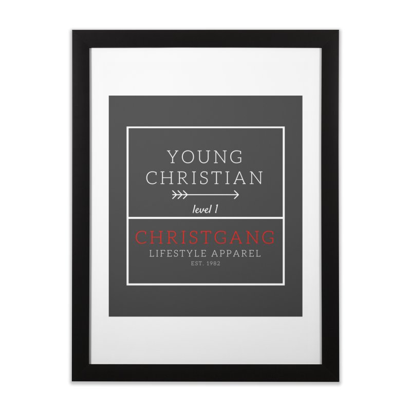 Young Christian Home Framed Fine Art Print by ChristGang Apparel